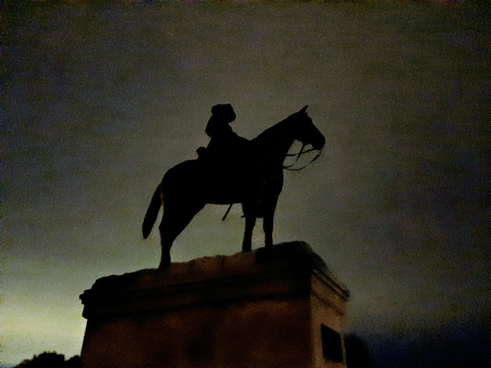 Ft. Riley Kansas Historical Society Ghost Tour sights, main post, chapel, Old Trooper Monument, United States Cavalry