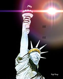 """""""lady liberty"""" iris flare"""