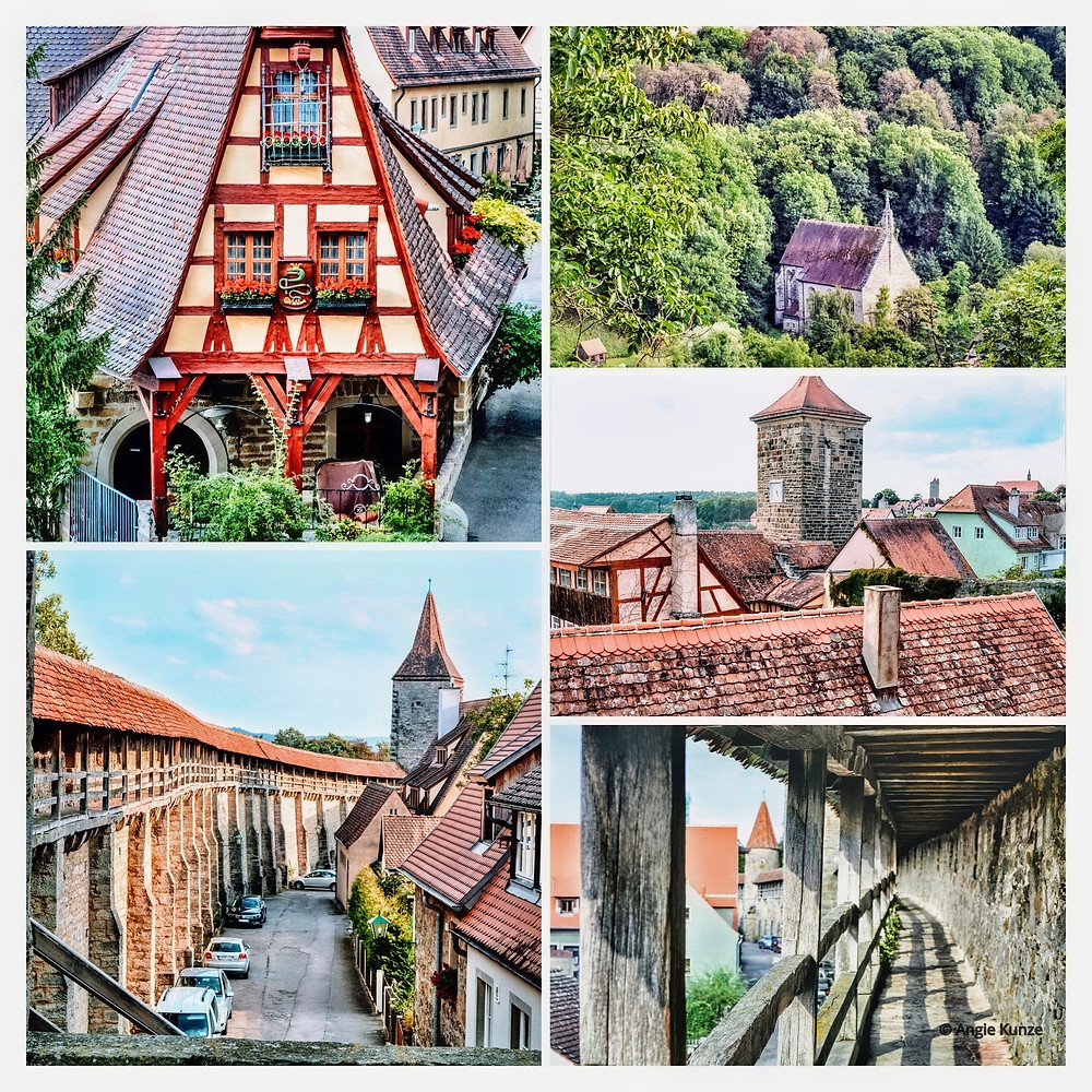 Rothenburg Germany sights from the town wall, Bavaria
