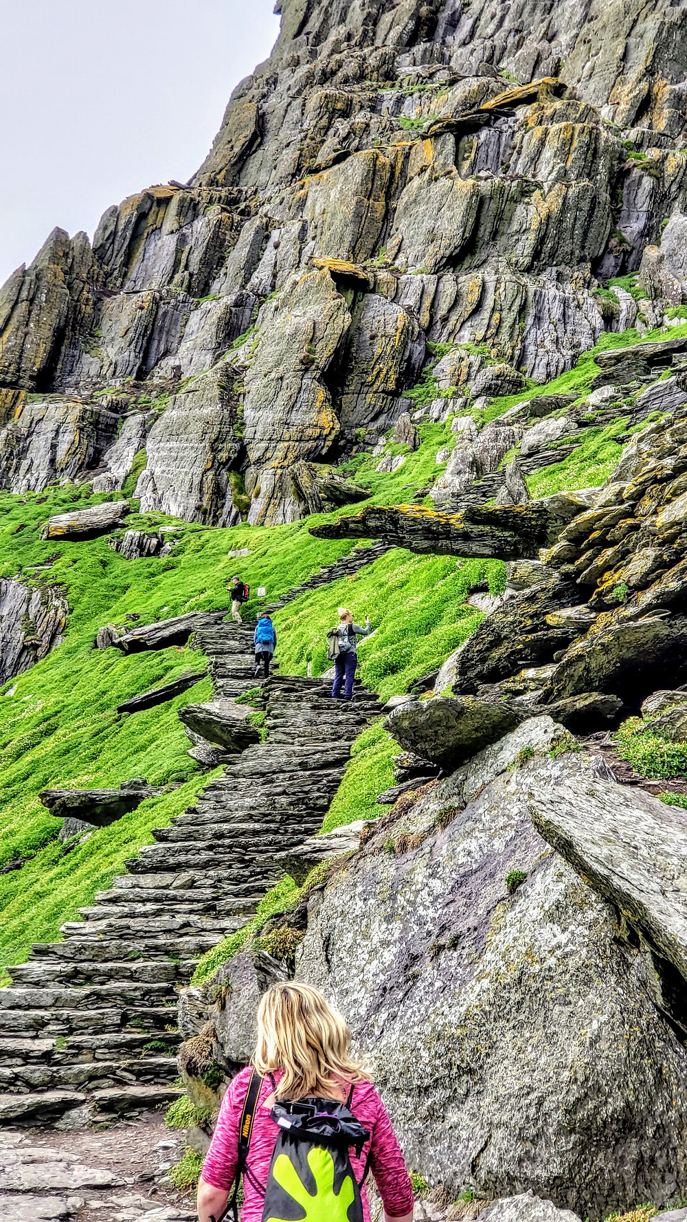 Skellig Michael, off the cost of the Kerry Peninsula in Ireland, ancient monk colony, Angie Kunze travel blogger, creative photographer Toto, We're Not in Kansas Anymore.