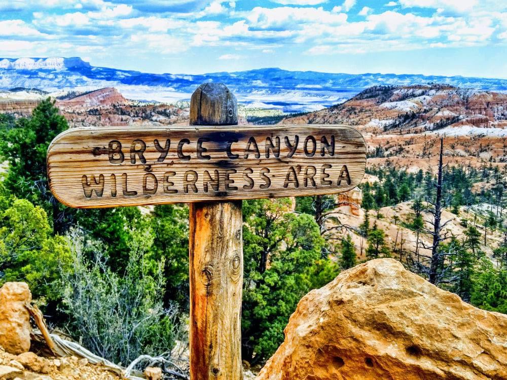 Bryce Canyon National Park sign Utah