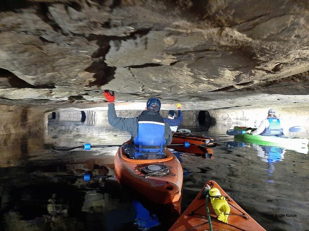Marsan Kayak and Canoe Crystal City Underground Crystal City Missouri, kayak cave tours, kayak in a cave!