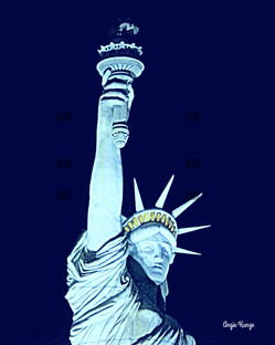 """""""lady liberty"""" in blue"""