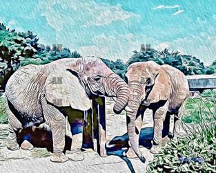 """""""elephants"""" paint style"""