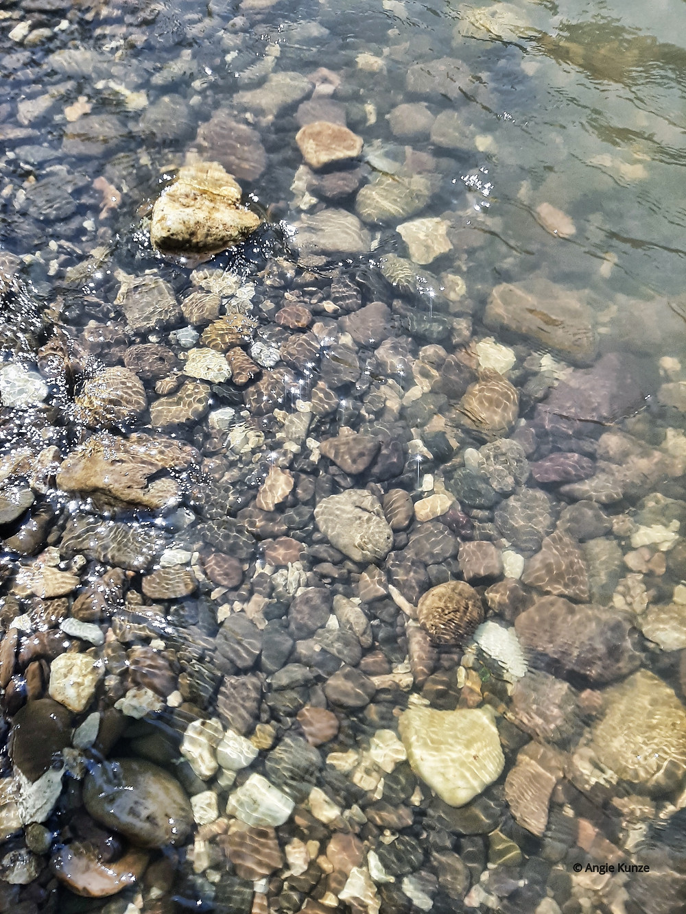 Clear water on the Buffalo River Arkansas