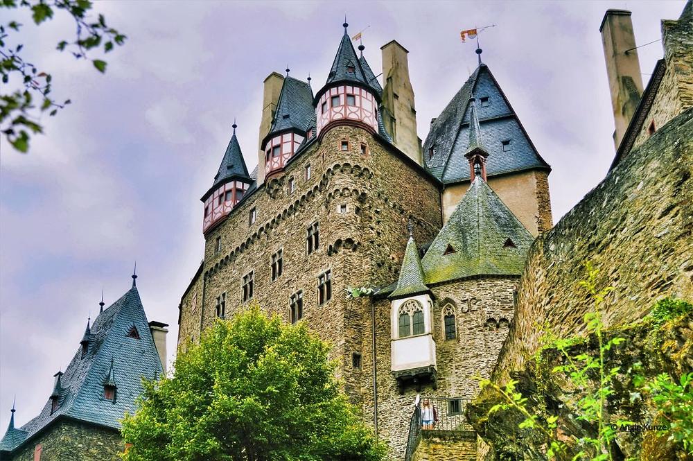 alternative view of berg eltz castle, eltz forest germany