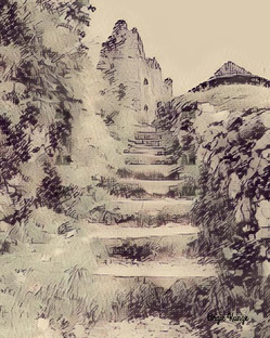 ehrenberg castle sketch, austria