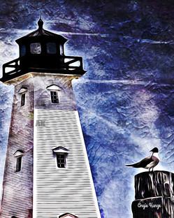 lighthouse light flare