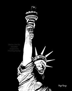"""""""lady liberty"""" old photo"""