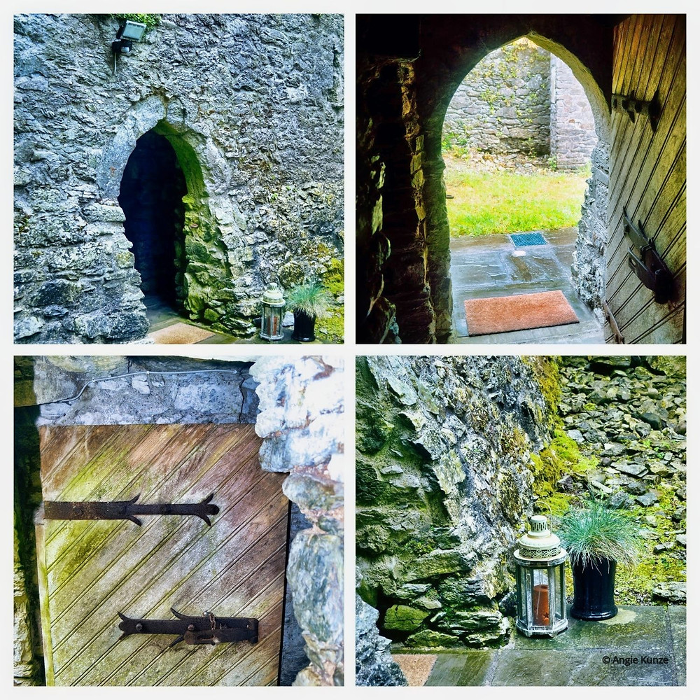 The entrance to your very own castle at Ballintois Castle in Ireland. Step back in time, stay as long as you like, or as long as your booking lasts :)