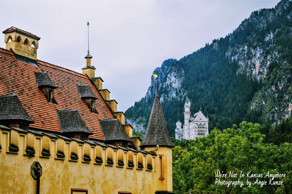 Neuschwanstein Castle as seen from Hohenschwangau Castle Bavaria Germany, Travel Germany, tips for visiting from Toto, we're not in Kansas anymore.