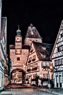 rothenburg night, germany