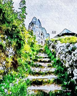 castle steps, ehrenberg castle austria