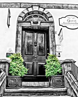 """black & white door"" kilkenny ireland"