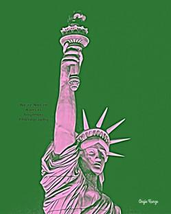 """""""lady liberty"""" green/pink"""