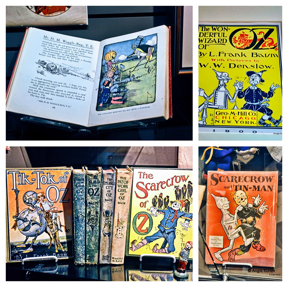 Wizard of Oz book collection at the Oz Museum in Wamego Kansas