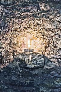 """lighting the castle"" ballintotis castle ireland"