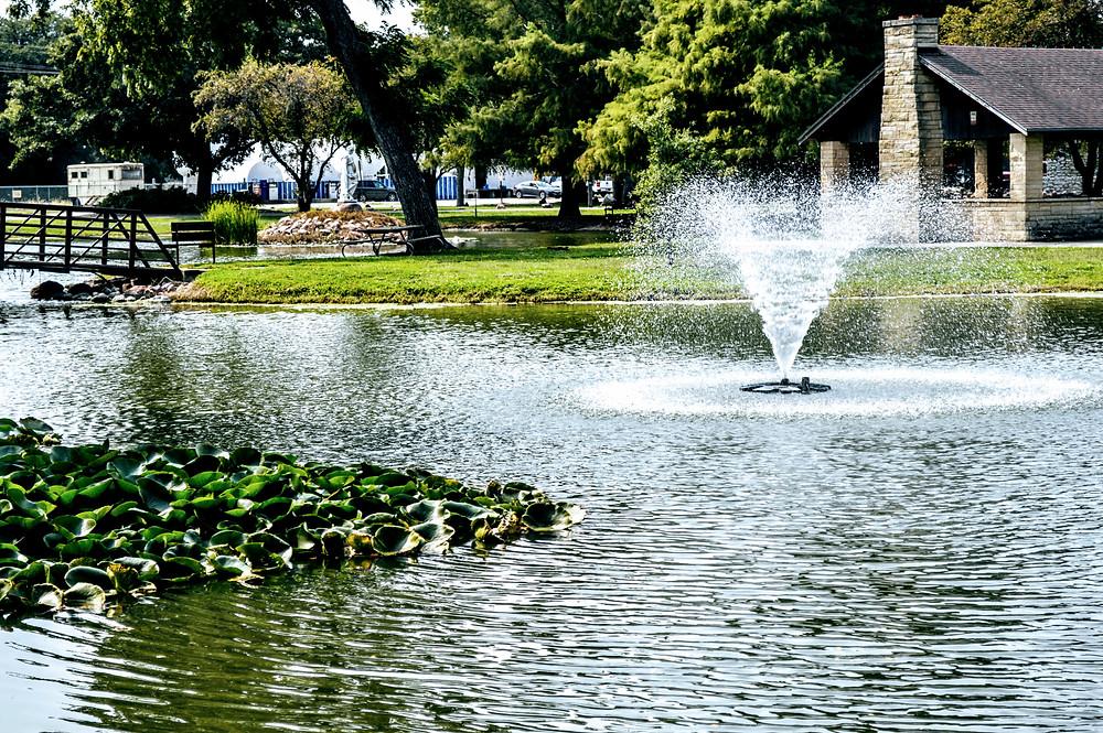 Wamego City Park Pond, Pottawatomie County Kansas, travel visit Kansas