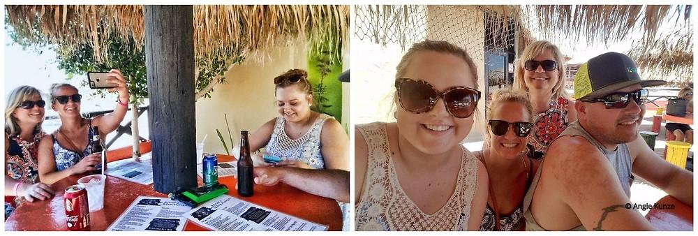 Tiki Umbrella seating at Banditos Restaurant in Puerto Penasco, Rocky Pont Mexico