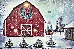 """winter barn"""