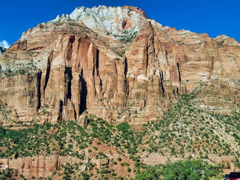 Zion National Park Utah red rock formations and mountains