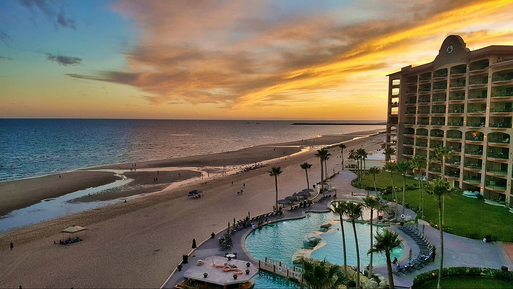 Sunset on the Beach in on the Sea of Cortez, Gulf of California, Puerto Penasco, Rocky Point Mexico