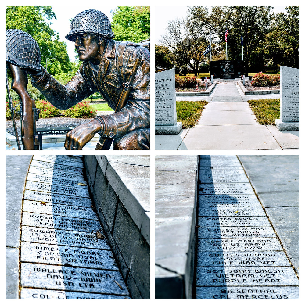 Veterans War Memorial, City Park, Wamego Kansas