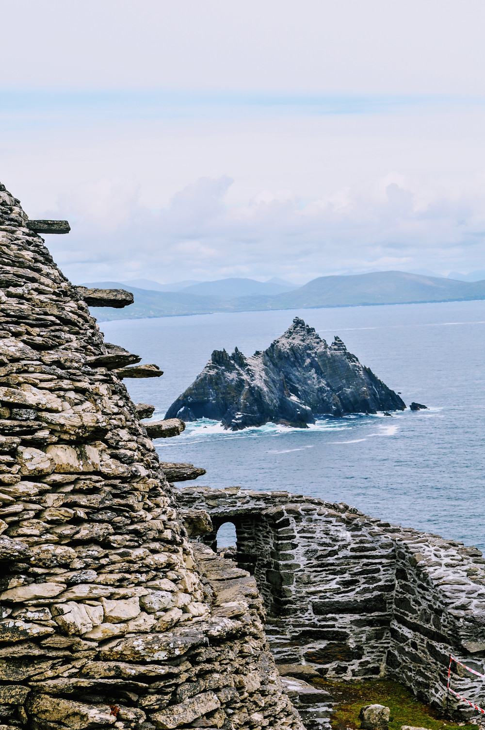 Little Skellig as seen from Skellig Michael, off the cost of the Kerry Peninsula in Ireland, ancient monk colony,
