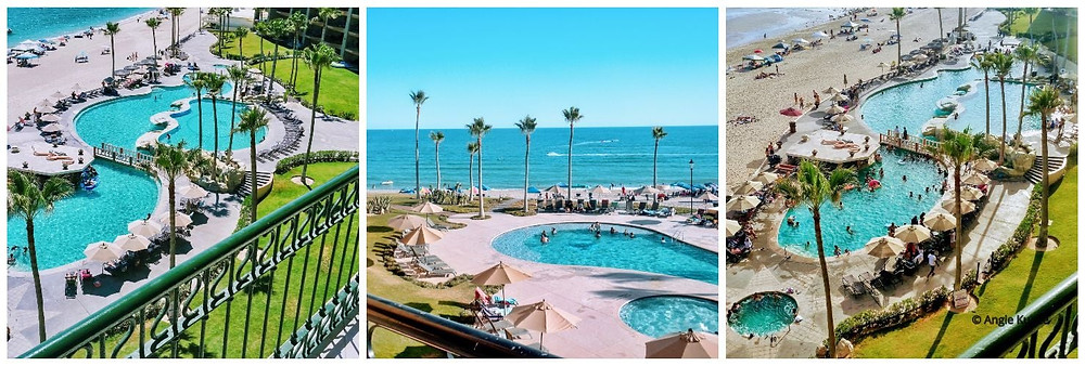 Swimming pools at the Princesa and Sonoran Sun in Puerto Penasco, Rocky Point Mexico