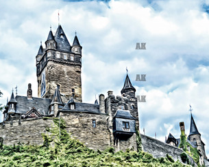 """reichsburg castle"" cochem germany"