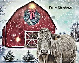 """merry christmas cow"""