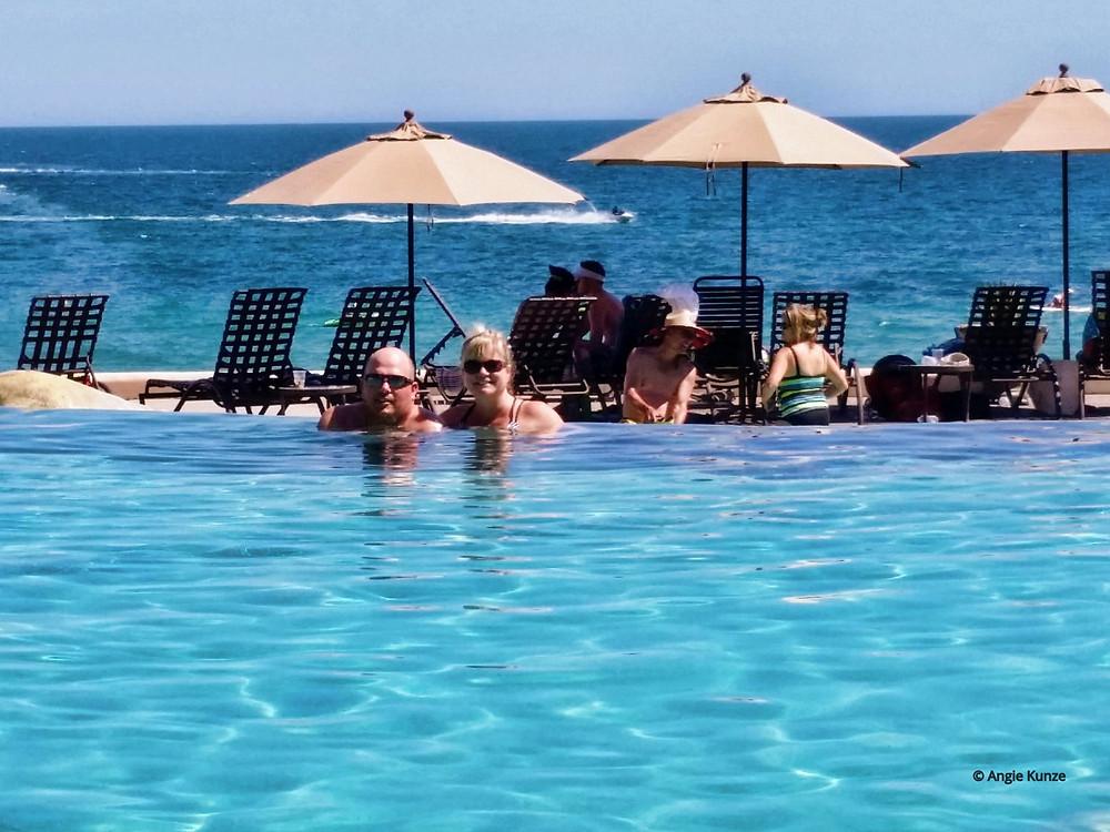 Swimming Pool at the Sonoran Sun condo complex resort in Puerto Penasco Rocky Point Mexico on the beach of the Sea of Cortez