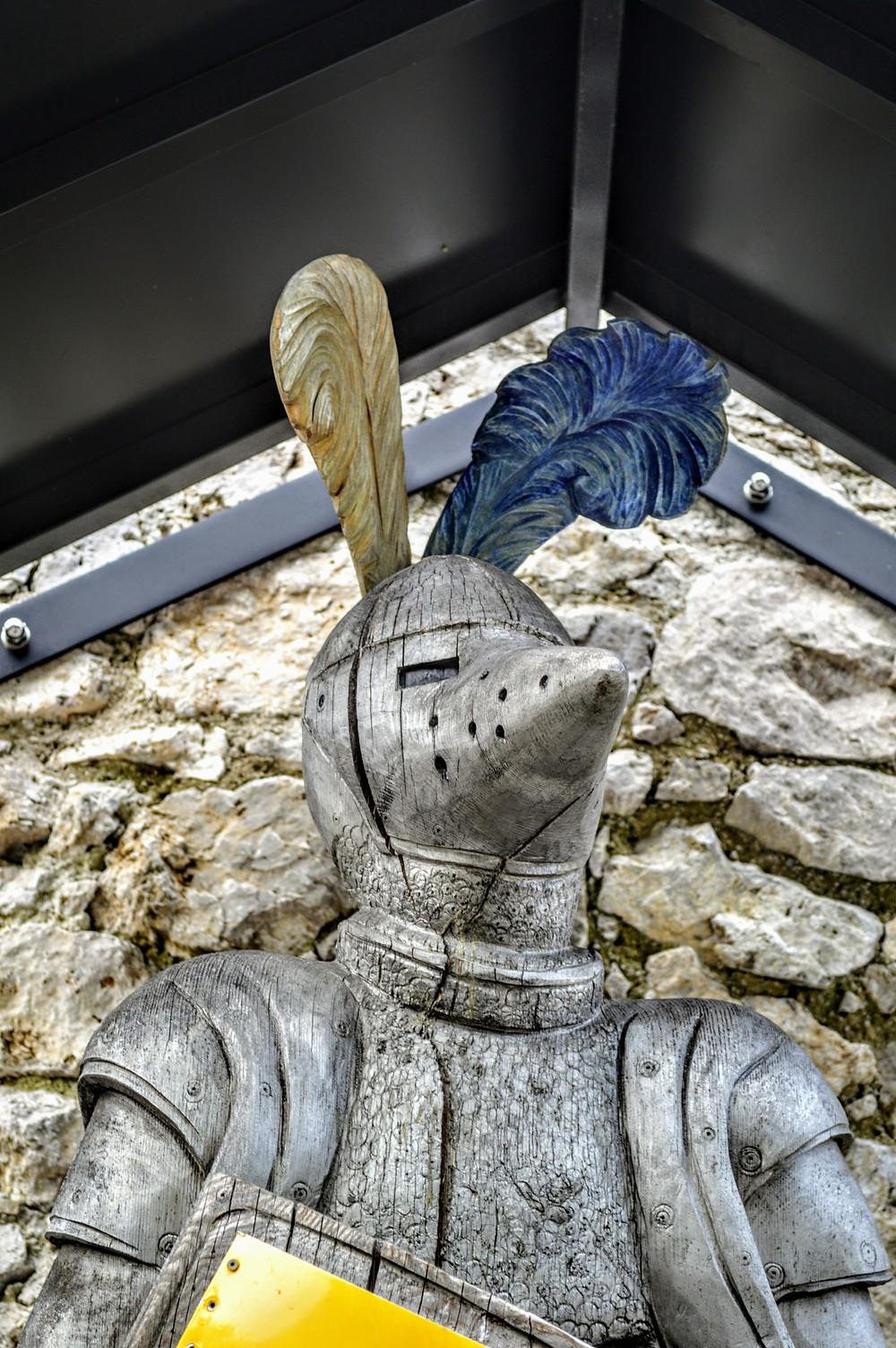 Knight in armour near the visitor center Ehrenberg castle, Ruette Austria