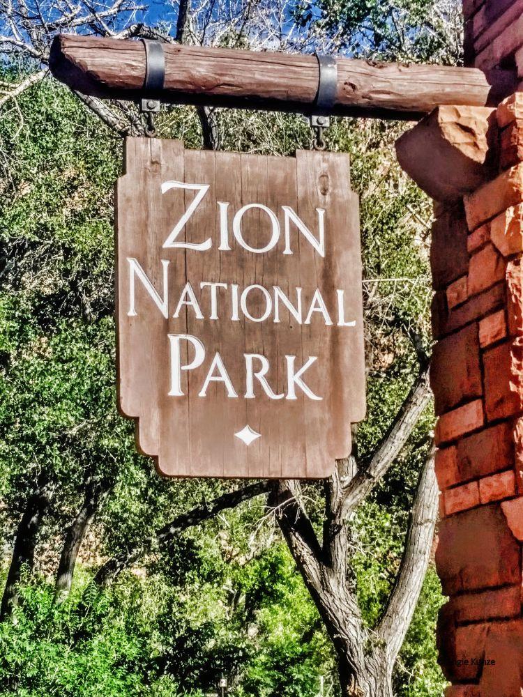 Zion National Utah entrance sign