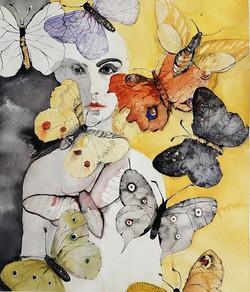 Butterfly woman   Perhosnainen