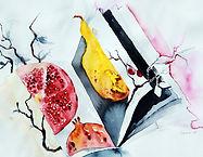 Aquarelle by Marsa Pihlaja, artist, painter, Finland