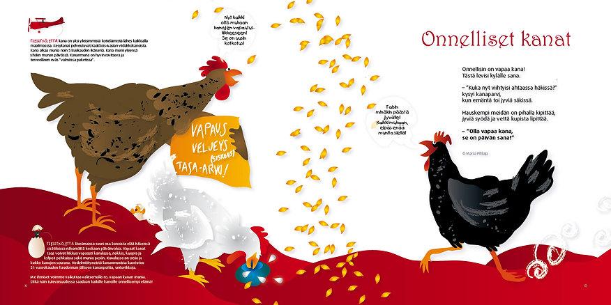 Onnelliset kanat kirjasta Eläinten maassa tapahtuu kummia! Marsa Pihlaja