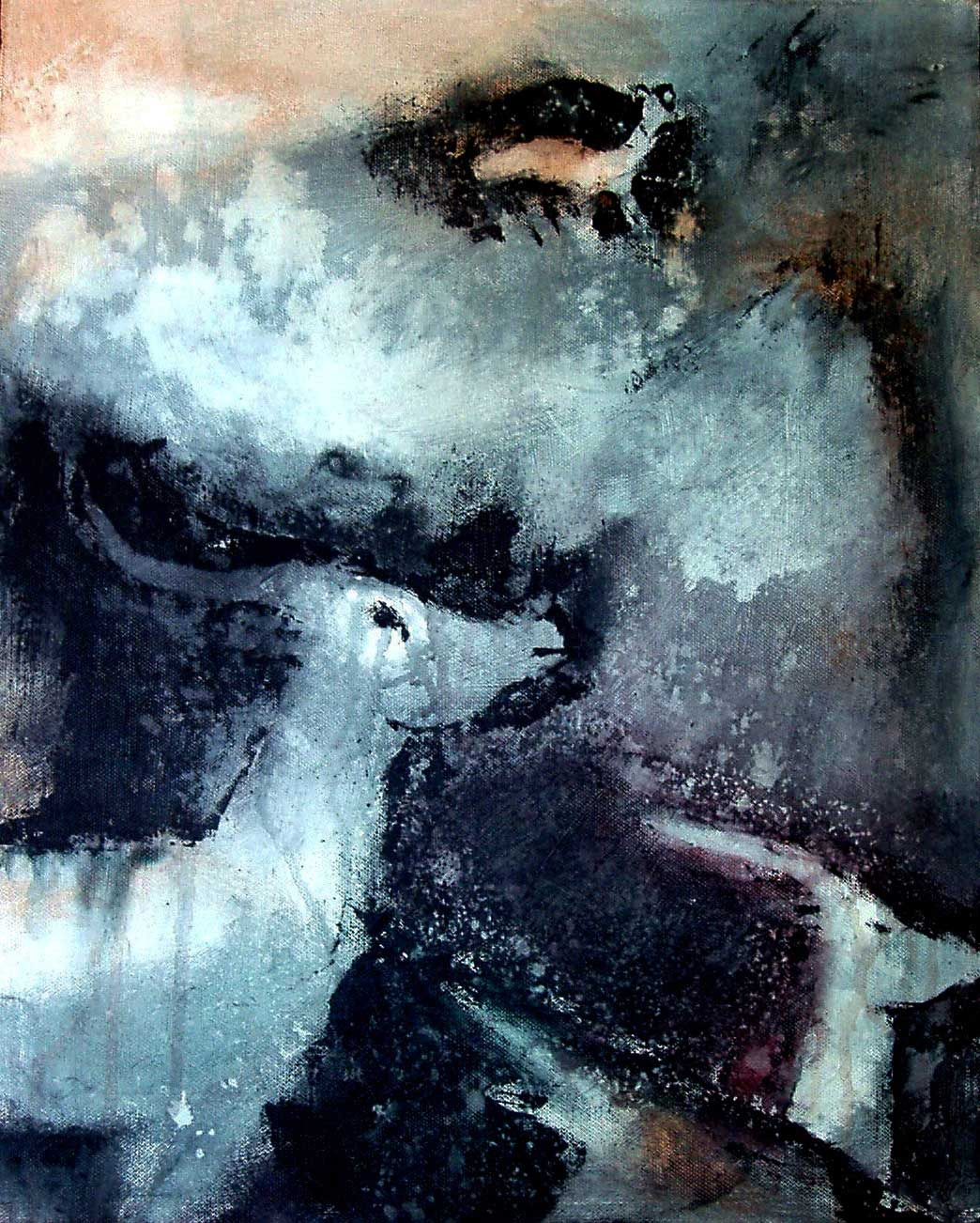Mourning antilopes / triptych