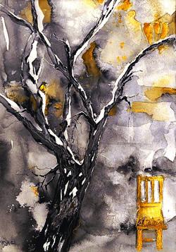 In the tree, beside the wall | Puussa, seinän vieressä