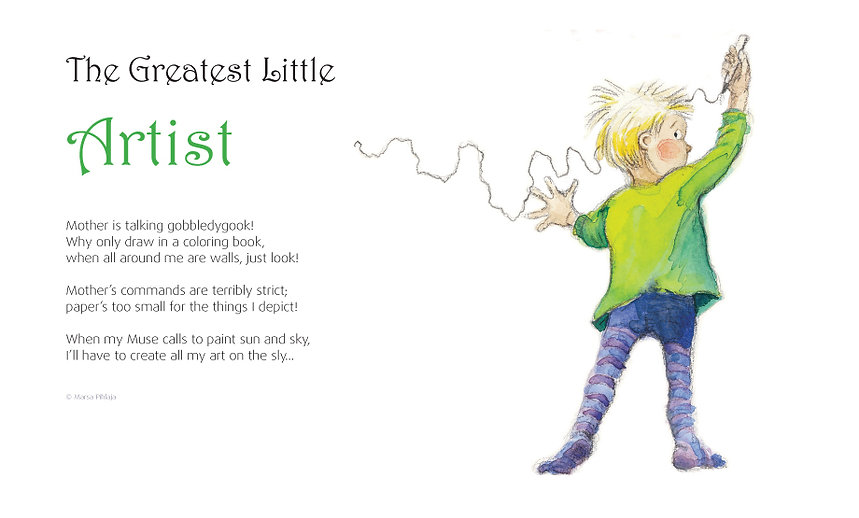 The greatest little artist from the book Mother by Marsa Pihlaja, Finland