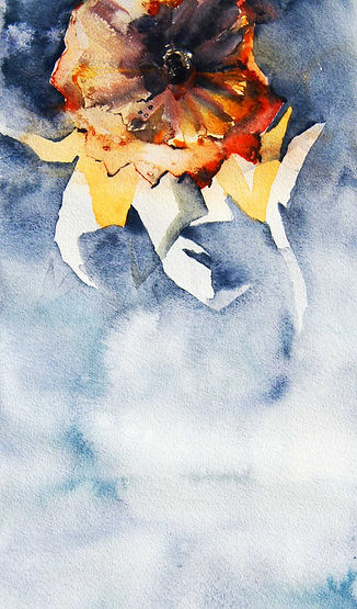 Aquarelle by Marsa Pihlaja, artist, painter, Finland