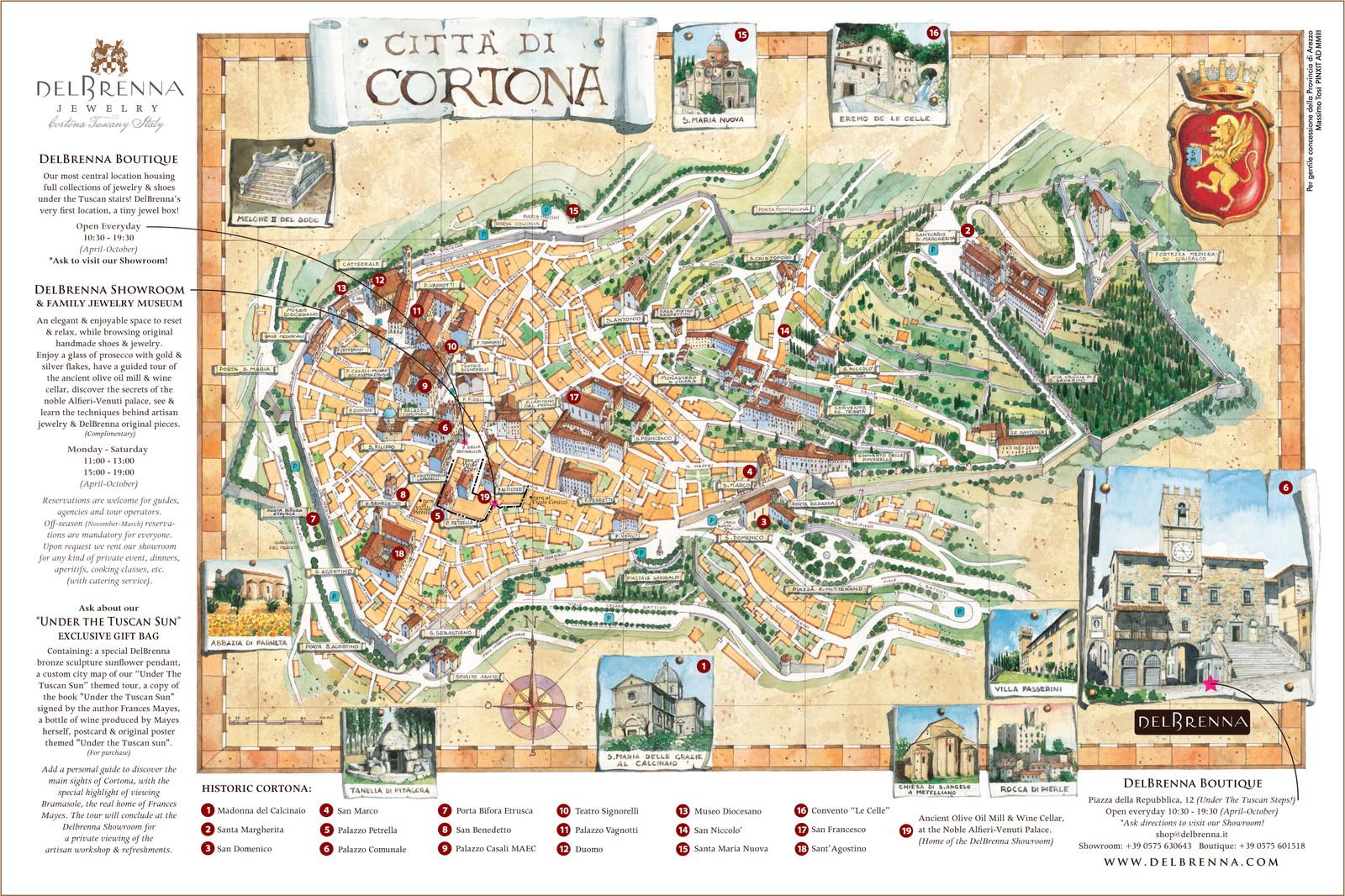 Exclusive Cortona Map| Cortona | DelBrenna Jewelry