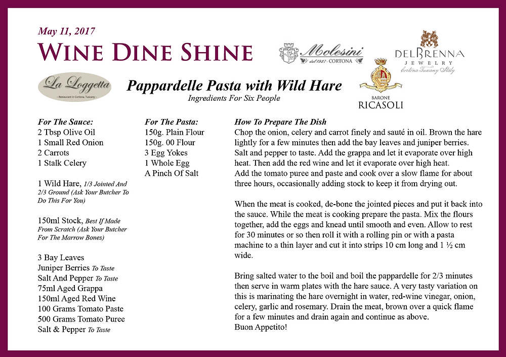 Pappardelle Pasta with Wild Hare