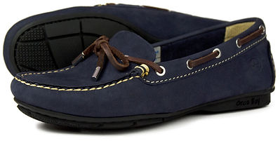 Orca Bay Ballena Leather Driving Loafer Washable Indigo