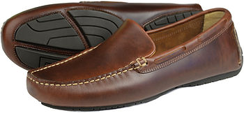 Silverstone Elk Pull Up Leather Orca Bay Driving Loafer