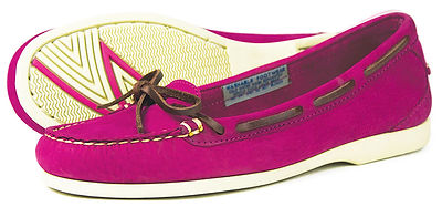 Bay Deep Pink Womens Leather Washable Deck Shoe Pump Orca Bay
