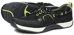 Wave in Carbon/Yellow Sports Boat Shoe Orca Bay
