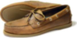 Creek Mens Sand Leather Deck Shoe