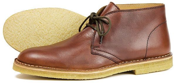 Gobi in Pecan Orca Bay Leather Shoe Crepe Sole