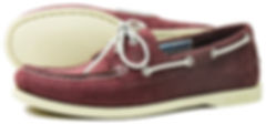 Orca Bay Womens Sandusky Washable Leather Deck Shoe in Burgundy